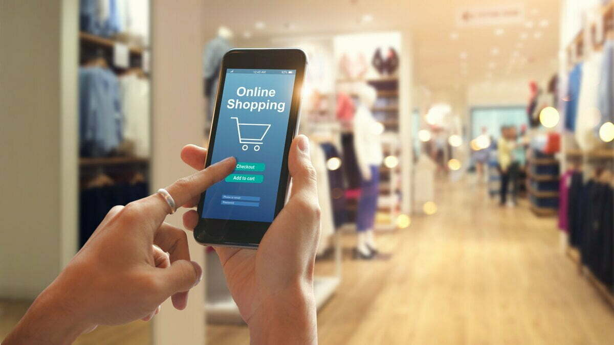 smart phone online shopping in woman hand 1